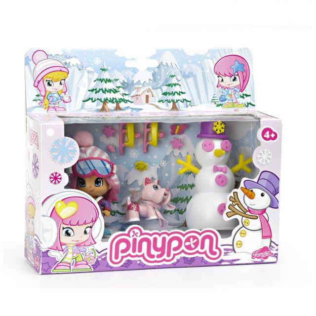 Figurina PinyPon,scena de iarna,set