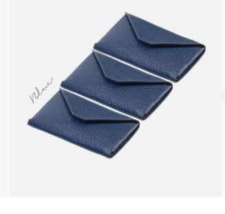 Portvisit card Montegrappa,piele,Blue