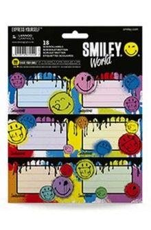 Etichete scolare,18/set,Smiley World