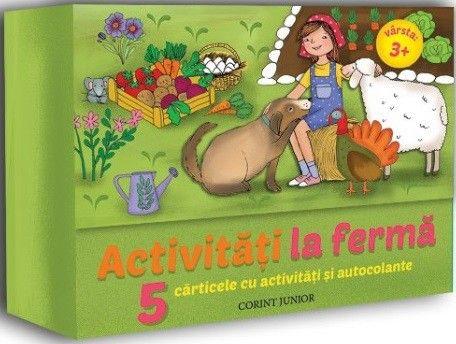 ACTIVITATI LA FERMA. 5 CARTICELE CU ACTIVITATI SI AUTOCOLANTE