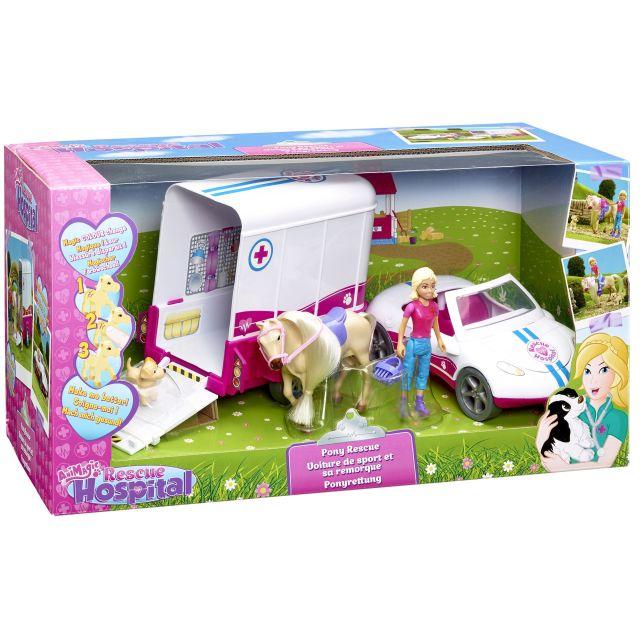 Figurina Rescue Hospital,vehicul salvare ponei