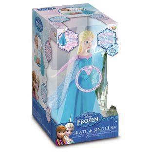 Papusa Frozen,Elsa,RC,patineaza,canta,40cm