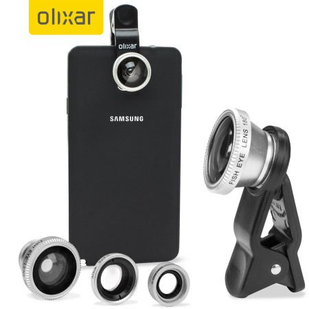 Lentile 3 in 1 pentru aparat foto telefon, Olixar
