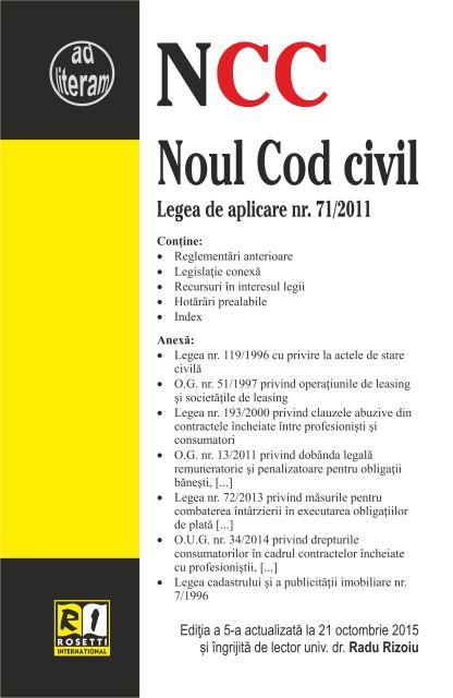NOUL COD CIVIL - EDITIA A 5-A (2015-10-21)