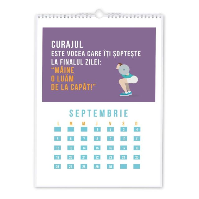 Calendar perete 30x42cm,Workout