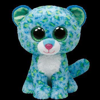 Plus TY Leona-Leopard,albastru,15cm
