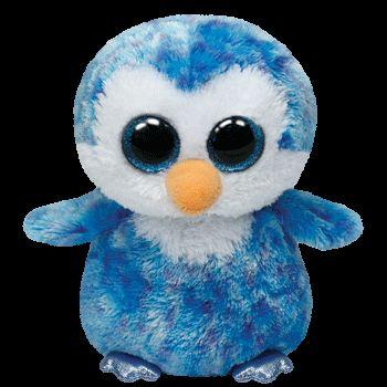 Plus TY Ice Cube-Pinguin,albastru,15cm