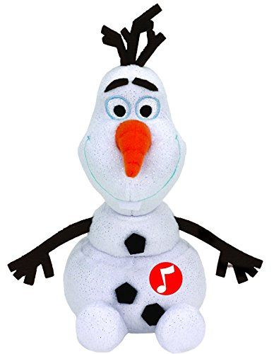 Plus TY Disney-Olaf,cu sunet,15cm