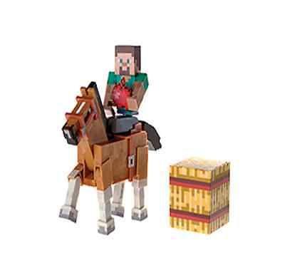 Minecraft Action Figure Steve & Chestnut Horse 8 cm