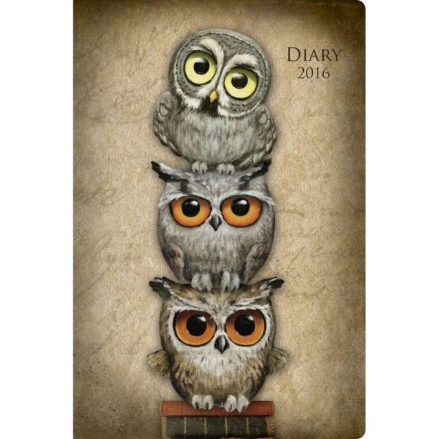 Agenda 8x10cm,datata 2016,Book Owls