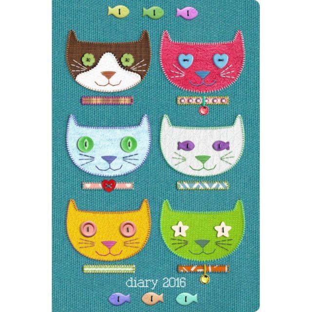 Agenda 8x10cm,datata 2016,Cats