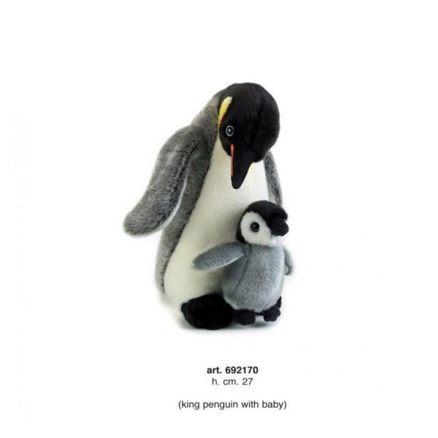 Plus,Pinguin cu pui,27cm
