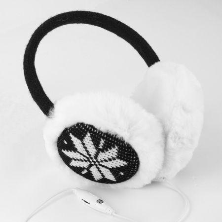 Casti audio pentru iarna fulg negru Olixar