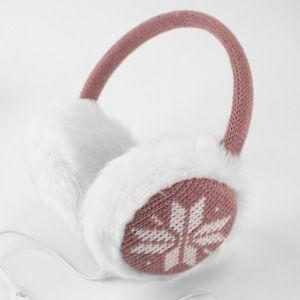 Casti audio pentru iarna fulg roz Olixar