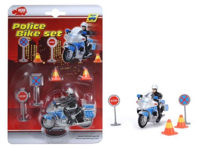 Motocicleta Dickie,politie,accesorii,set