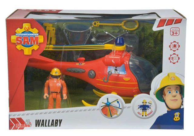 Elicopter pompierul Sam,cu figurina,24 cm