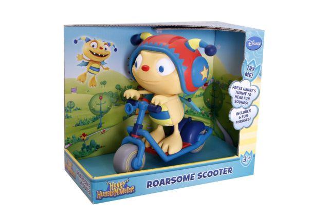 Figurina pe scuter,Hugglemonsters,Henry,interactiv