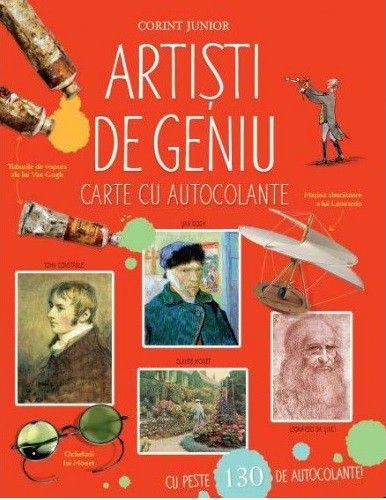 ARTISTI DE GENIU. CARTE CU 130 DE AUTOCOLANTE