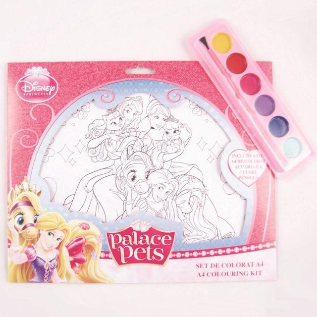 Set coloriaj,acuarele si pensula,Princess