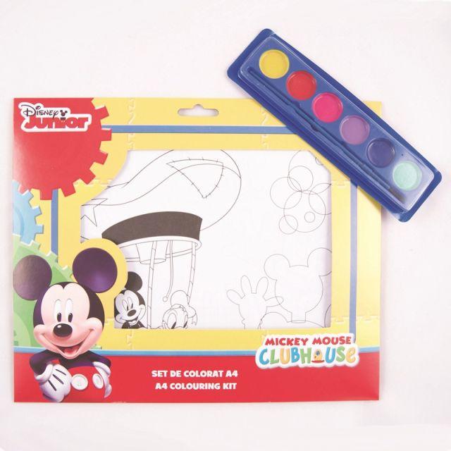 Set coloriaj,acuarele si pensula,Mickey