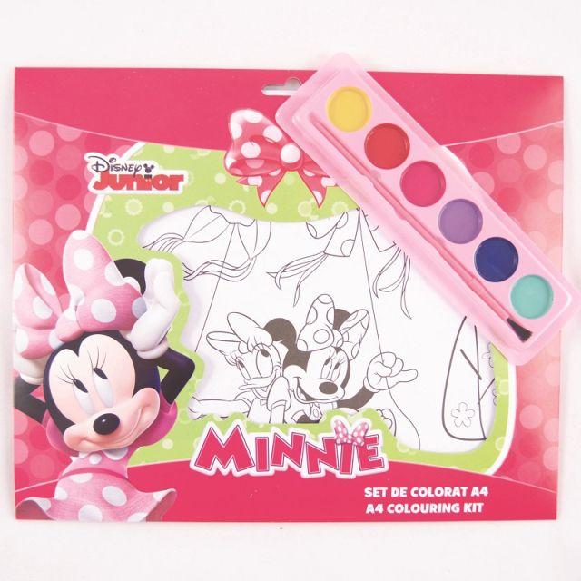 Set coloriaj,acuarele si pensula,Minnie