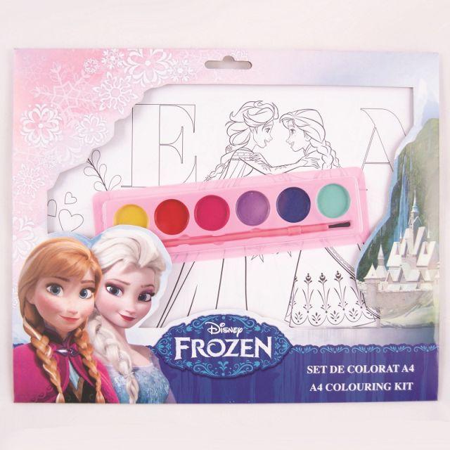 Set coloriaj,acuarele si pensula,Frozen