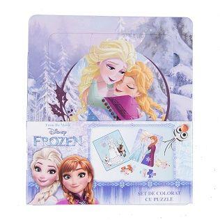 Set coloriaj cu puzzle,Frozen