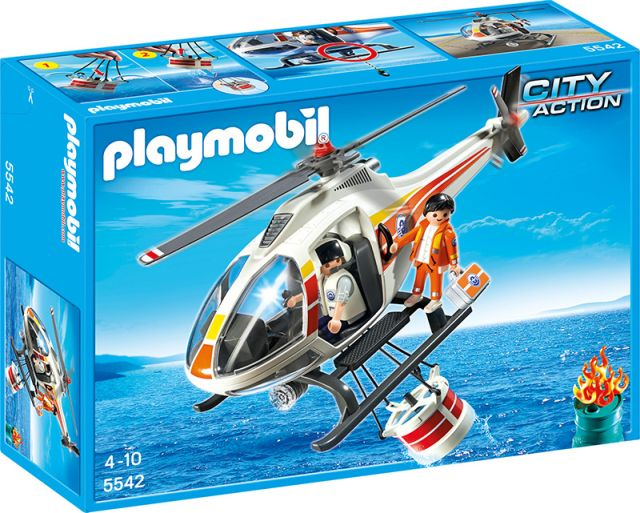 Playmobil-Elicopterul pentru incendii