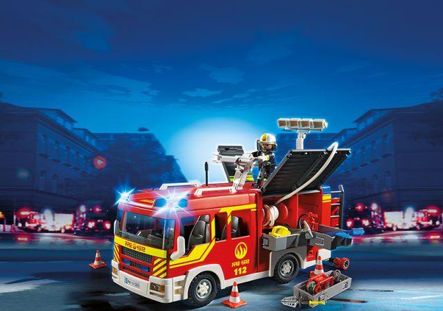 Playmobil-Masina pompieri,lumini,sunete