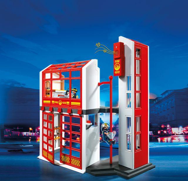 Playmobil-Statia de pompieri cu alarma