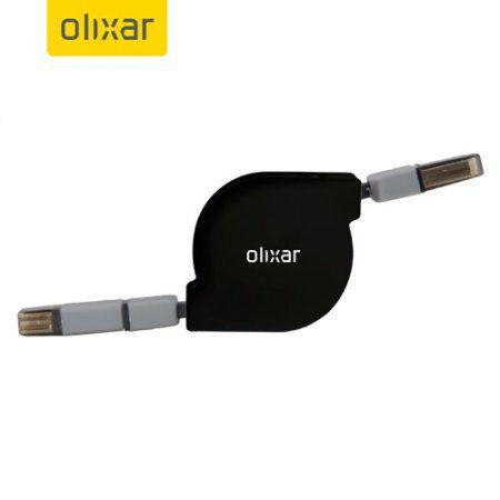 Cablu retractabil dual iPhone/microUSB Olixar