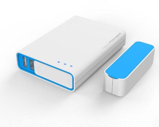 Acumulator portabil 10400mAh (Negru sau Albastru)