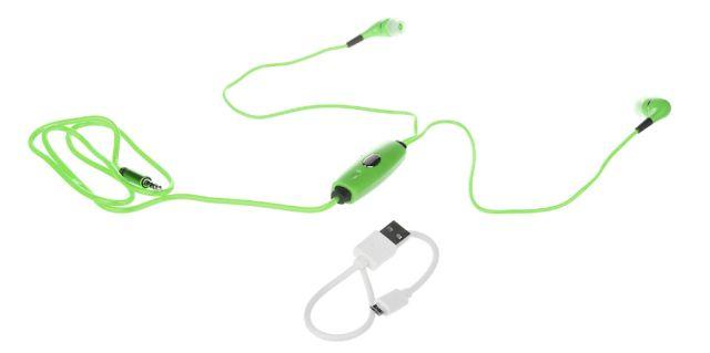 Casti Audio cu leduri, verde