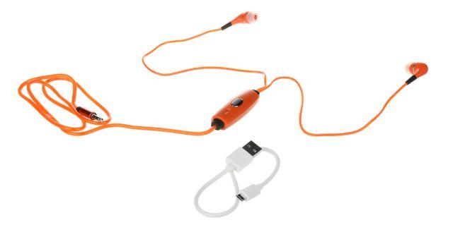 Casti Audio cu leduri, portocaliu