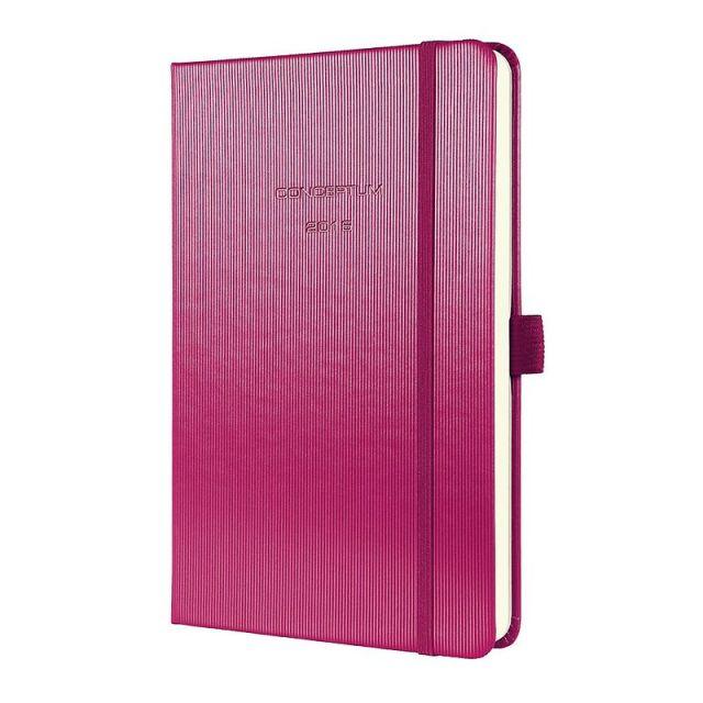 Agenda datata A5,Sigel,elastic,dict,roz