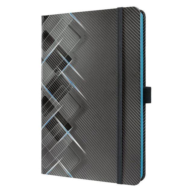 Agenda A5,Sigel,elastic,dict,negru/albastru