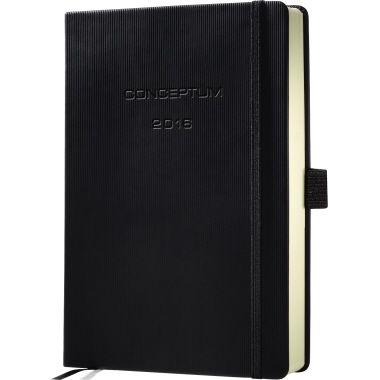 Agenda datata A5,Sigel,elastic,dict,negru