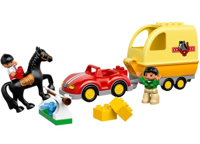 Lego-Duplo,Masina cu remorca pentru cai