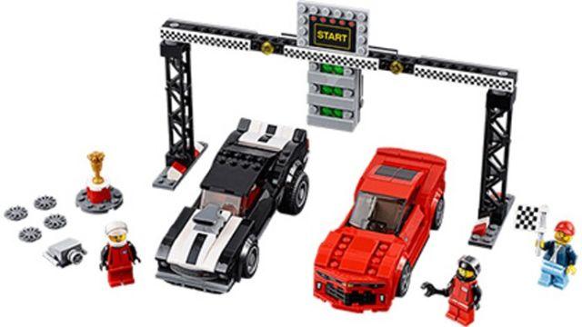 Lego-Speed Champions,Cursa de dragstere Chevrolet Camaro