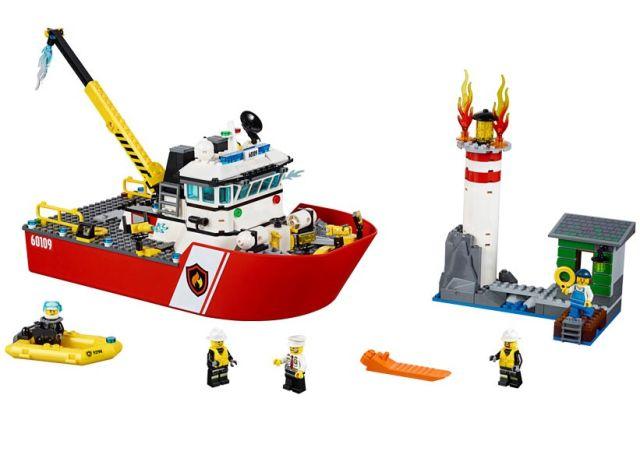 Lego-City,Salupa de stins incendii