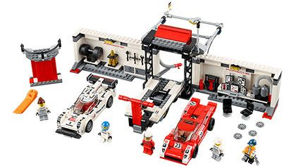 Lego-Speed Champions,Porsche 919 Hybrid si 917K Pit Lane
