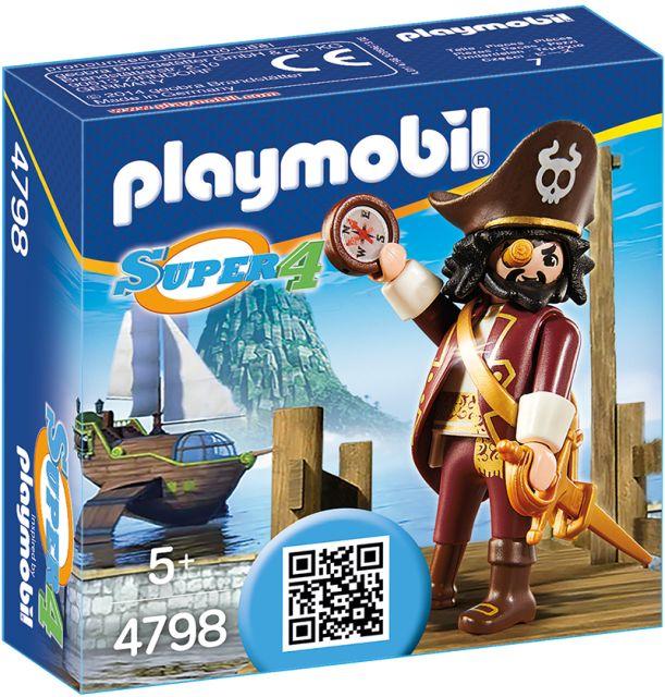 Playmobil-Super 4,piratul, barba