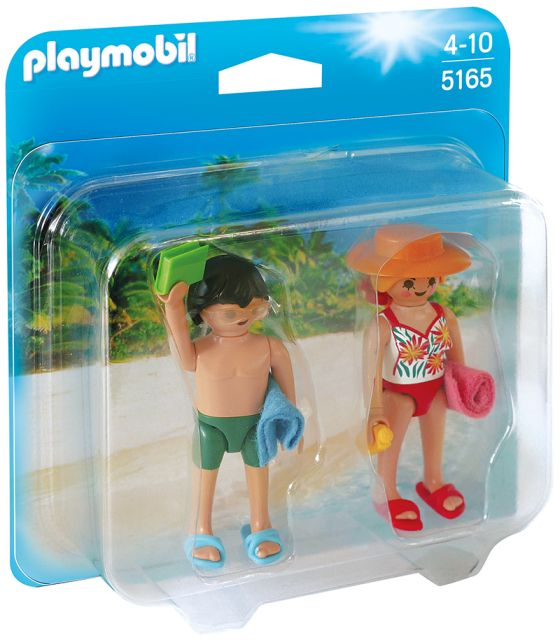 Playmobil-Figurina,oameni la plaja,2b/set