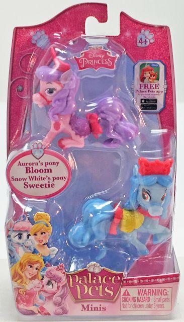 Figurina Disney,poneiul Aurorei,ponei Alba ca Zapada,3.8cm