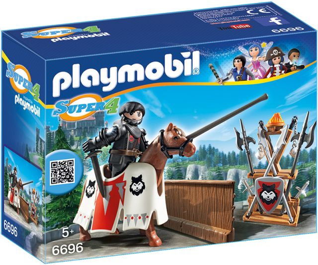 Playmobil-Super 4,gardianul baronului negru