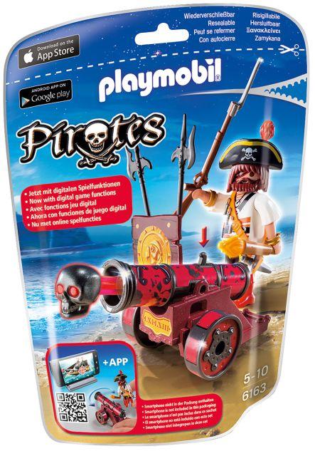 Playmobil-Pirat, tun rosu