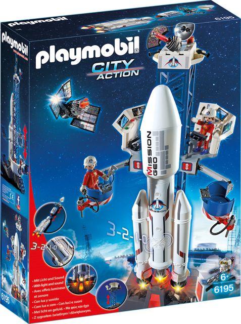 Playmobil-Racheta spatiala, statie de lansare