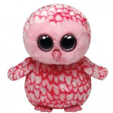 Plus TY Pinky-Bufnita roz,15cm