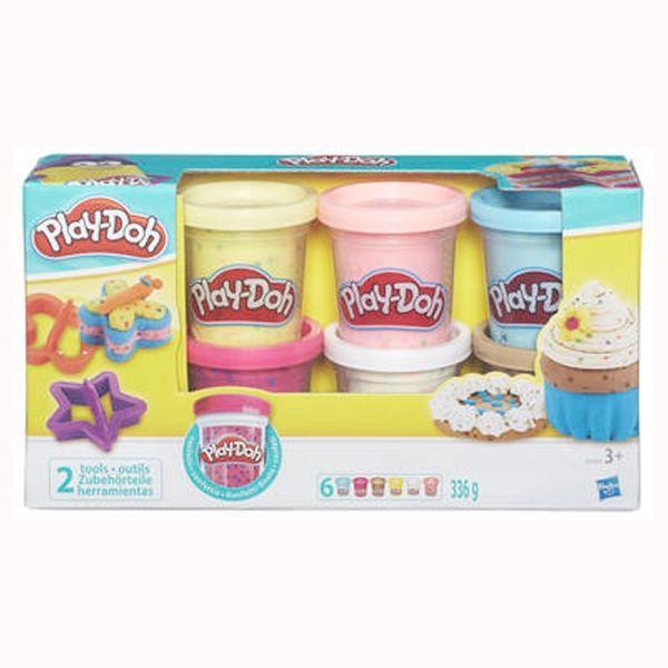PlayDoh-plastilina confetti,6buc/set