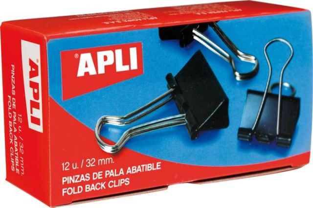 Clipsuri metal negre 19mm,12buc/cut,Apli